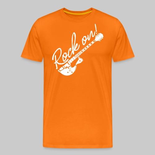 Rock On mit Gitarre - Männer Premium T-Shirt