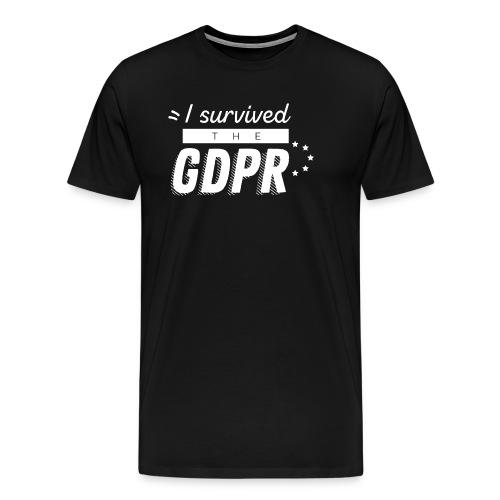 I survived the GDPR - Men's Premium T-Shirt