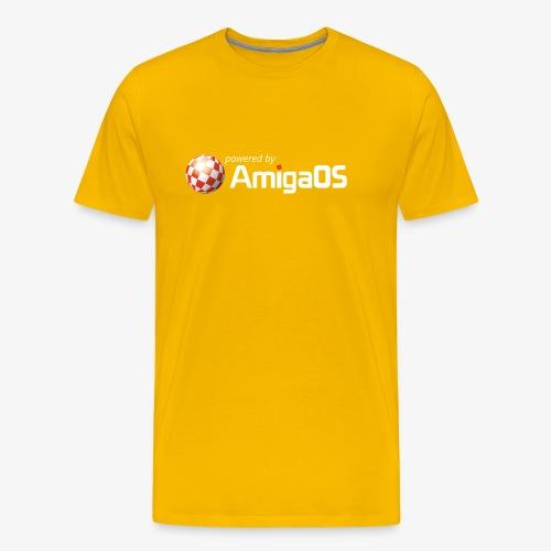 PoweredByAmigaOS white - Men's Premium T-Shirt