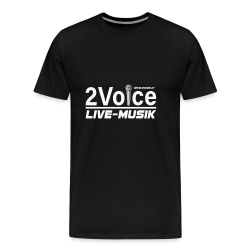 2VOICE Live Musik - Männer Premium T-Shirt