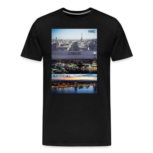 Paris London Amsterdam - Männer Premium T-Shirt