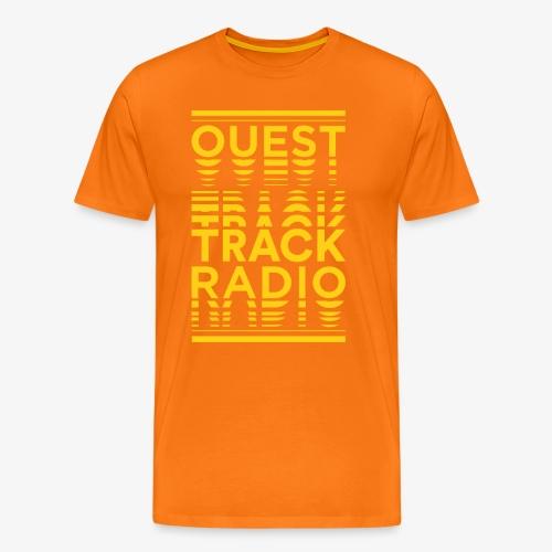 Logo Vertical Grand Jaune - T-shirt Premium Homme