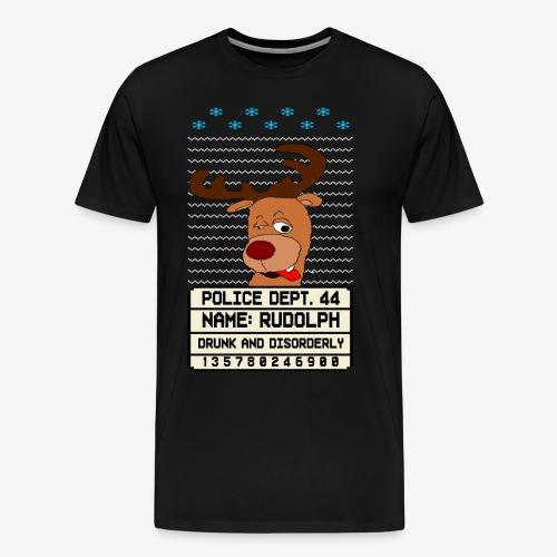 Drunken Besoffener Rudolpn Ugly Christmas - Männer Premium T-Shirt