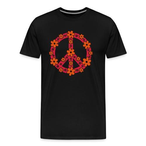 Peace Frieden Symbol Hippie Sommer Freiheit Liebe - Männer Premium T-Shirt