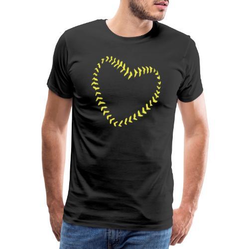 2581172 1029128891 Baseball Heart Of Seams - Men's Premium T-Shirt