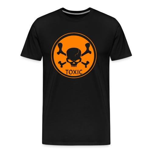 Skull Toxic Black & Orange - T-shirt Premium Homme