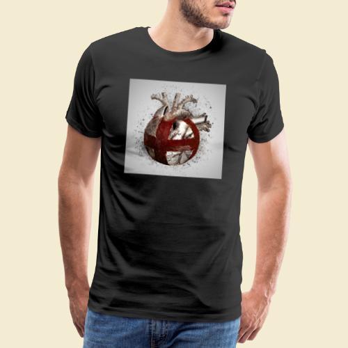 Radball Herz - Männer Premium T-Shirt