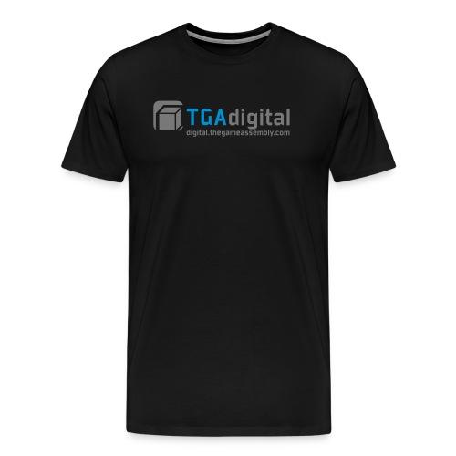 TGA_digital_logo_inkscape - Premium-T-shirt herr