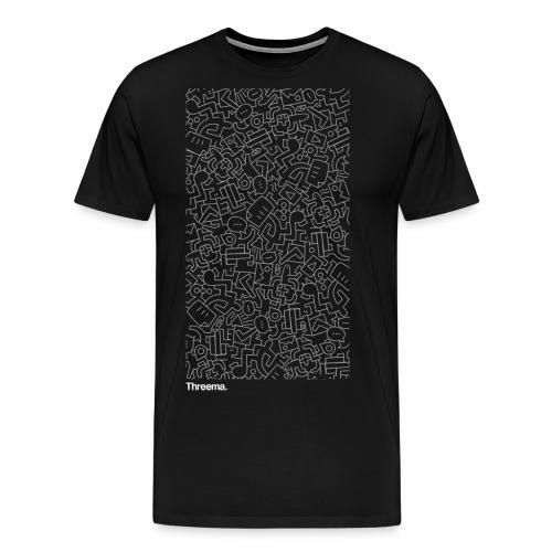 Illustration auf schwarz - Männer Premium T-Shirt