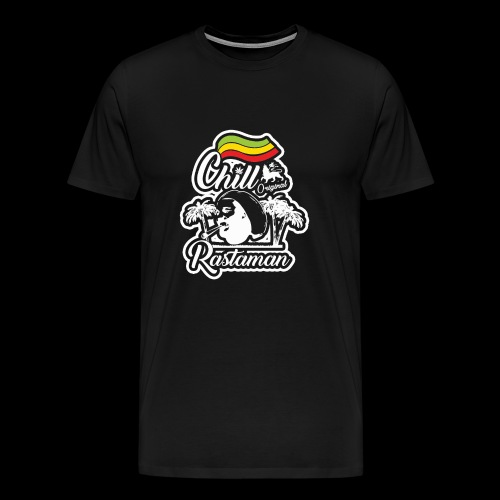 artfull dodger Chill Rastaman White version - T-shirt Premium Homme