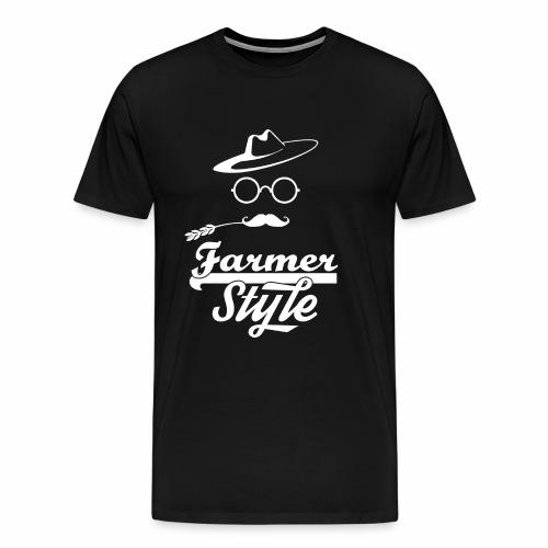 Farmer Style White png - Maglietta Premium da uomo