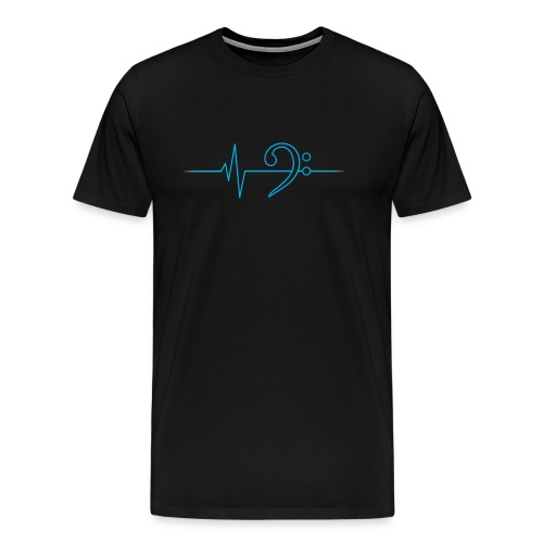 LowHeartBeat cyan - Männer Premium T-Shirt