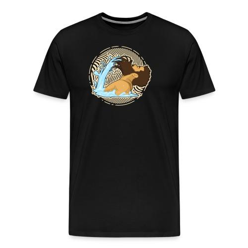 Bart Welle - lustiges Geschenk für Männer mit Bart - Männer Premium T-Shirt