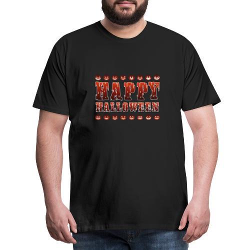 Happy Halloween med pumpor - Premium-T-shirt herr