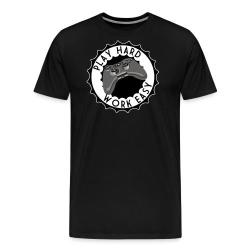 PlayHardWorkEasy2 - Männer Premium T-Shirt