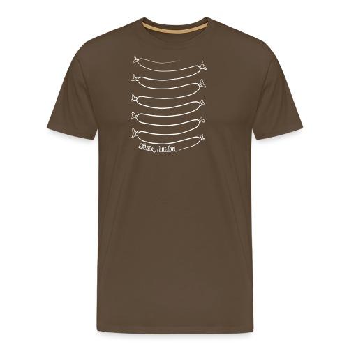 Wiener Illusion (weiß auf schwarz) - Männer Premium T-Shirt