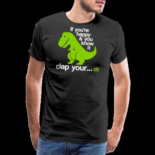 Happy T-Rex - Premium-T-shirt herr