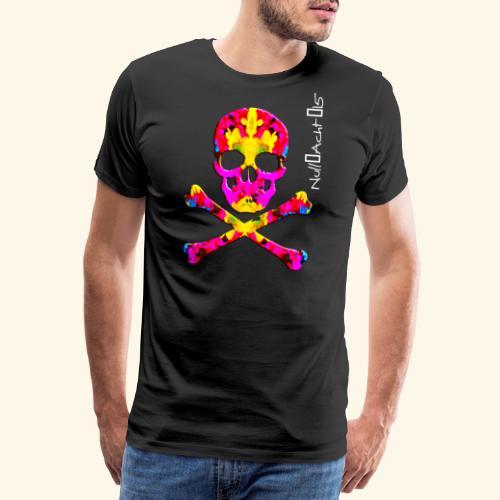 skull with white type - Männer Premium T-Shirt
