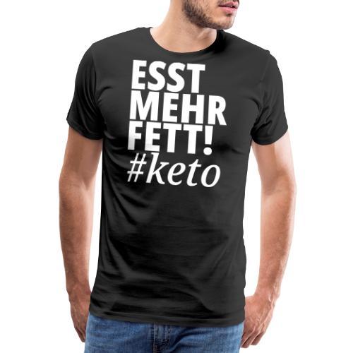 Keto Ketogene Diät witzig Meme Spruch Ketose - Männer Premium T-Shirt