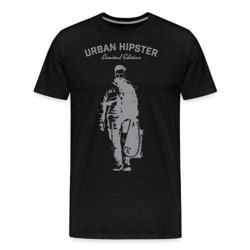 UrbanHipsterAstronautWh - Men's Premium T-Shirt