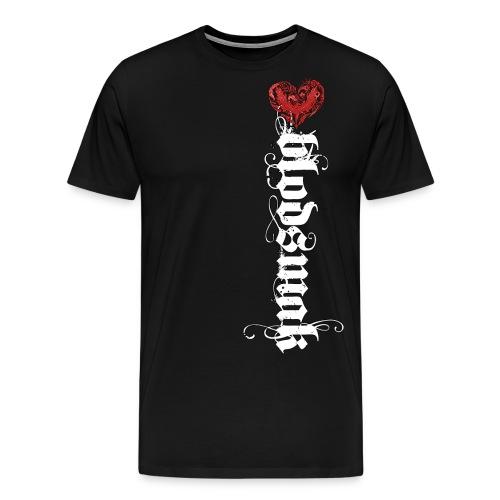 Blodsmaklogotracehvit png - Premium T-skjorte for menn
