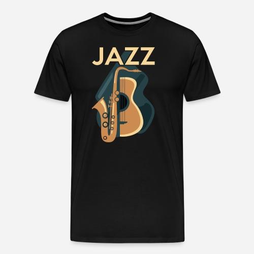 Jazz Gitarre mit Saxophon - Männer Premium T-Shirt