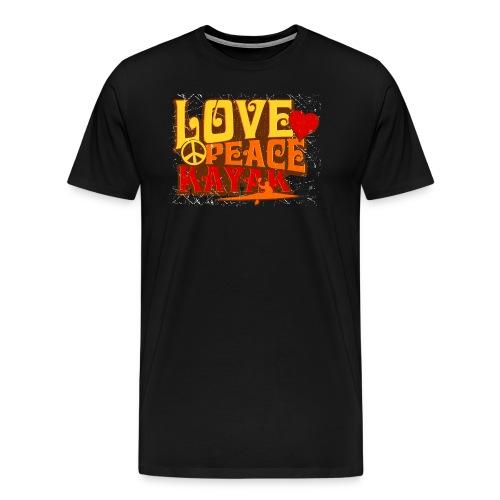 Love Peace Kayak - Men's Premium T-Shirt