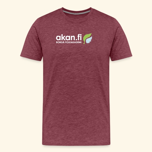 Akan White - Premium-T-shirt herr