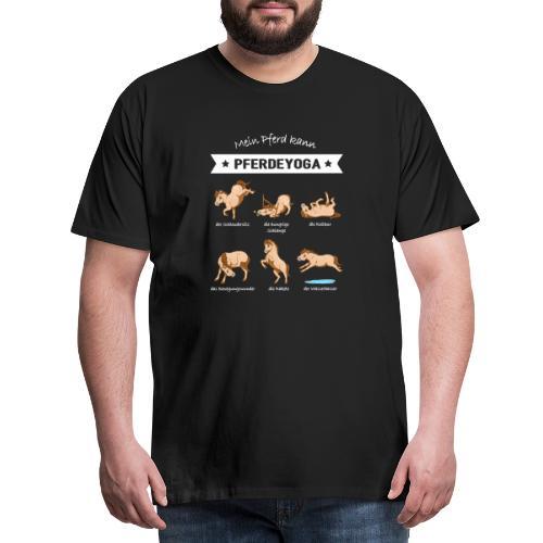 Pferdeyoga - Männer Premium T-Shirt