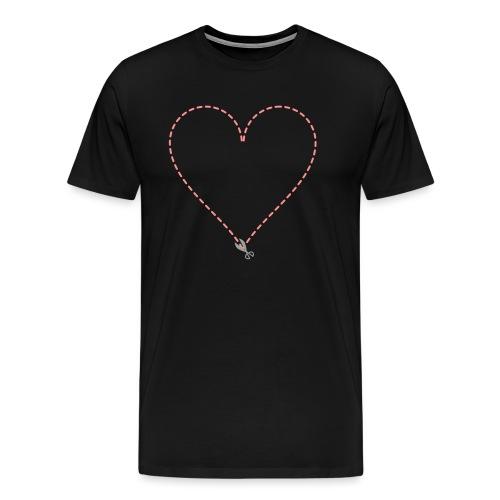 Coeur à découper - T-shirt Premium Homme