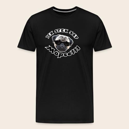 ich steh auf möpse - Männer Premium T-Shirt