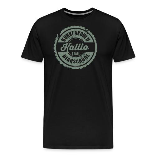 22V-KALLION KORKEAKOULU - Tekstiilit ja lahjat - Miesten premium t-paita