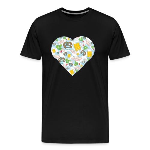 Bayern Liebe - Brezel, Bier und Weißwurst - Männer Premium T-Shirt