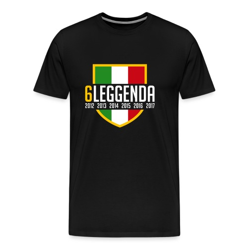 6LEGGENDA BLACK - Maglietta Premium da uomo