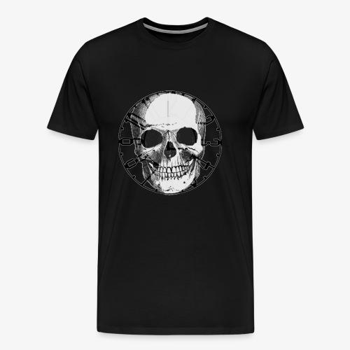 skull_uhr_sw - Männer Premium T-Shirt