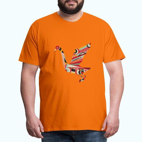 Origami bird Japanese - Men's Premium T-Shirt