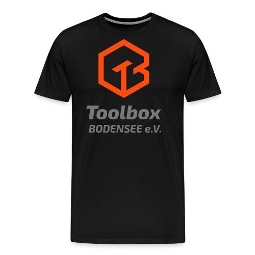 TB-Logo groß oben - Männer Premium T-Shirt