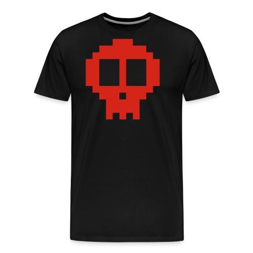 Pixel skull - red - Men's Premium T-Shirt