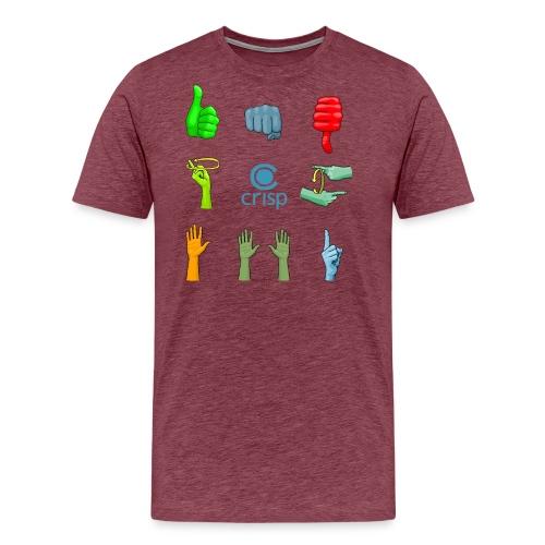 handsignals-color - Premium-T-shirt herr