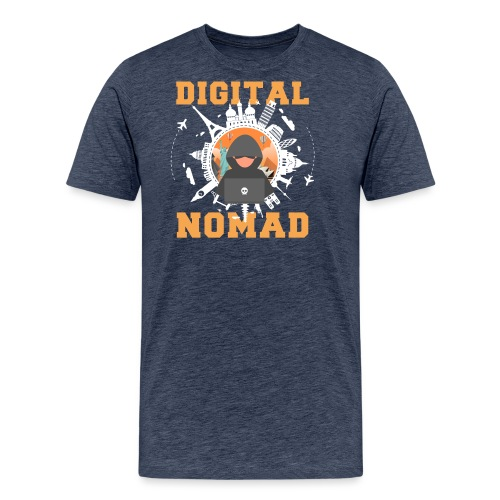 Digital Nomad - Männer Premium T-Shirt