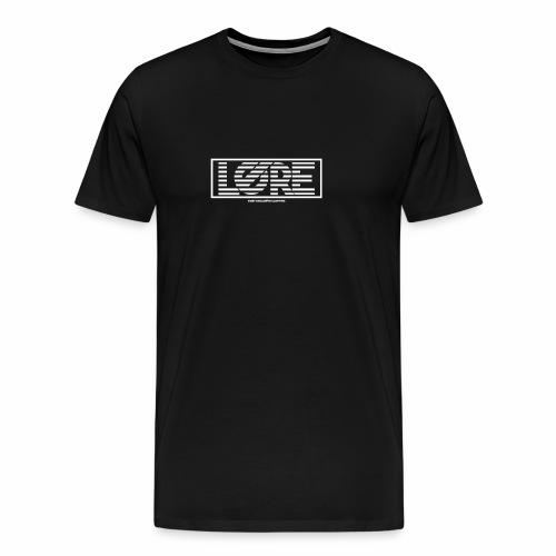 ''Lore'' Logo Witte Strepen - Mannen Premium T-shirt