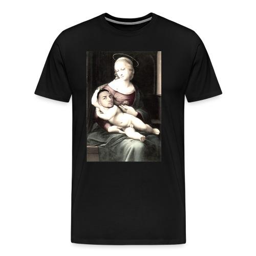 Madonna met middeleeuwse baby. - Mannen Premium T-shirt