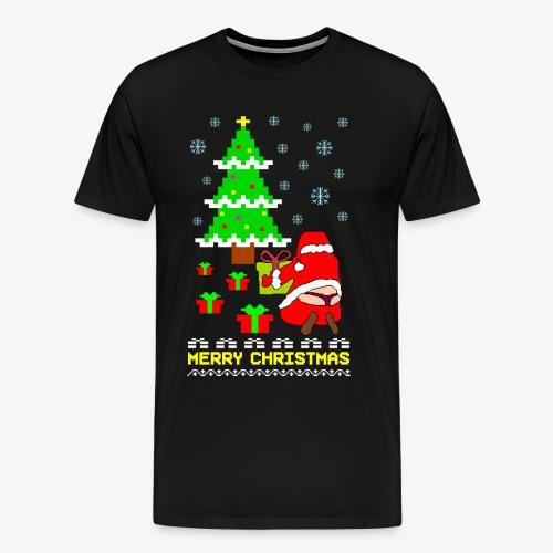 Merry Christmas Santa Tanga Ugly Xmas - Männer Premium T-Shirt