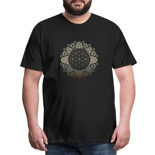 Flower of life Gold - Männer Premium T-Shirt