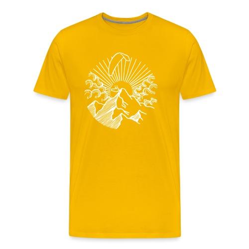Paraglider Mountain Sunrise - Männer Premium T-Shirt