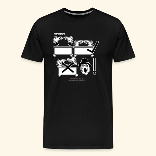 Film Geek T Shirt Design Bondesläd - Männer Premium T-Shirt