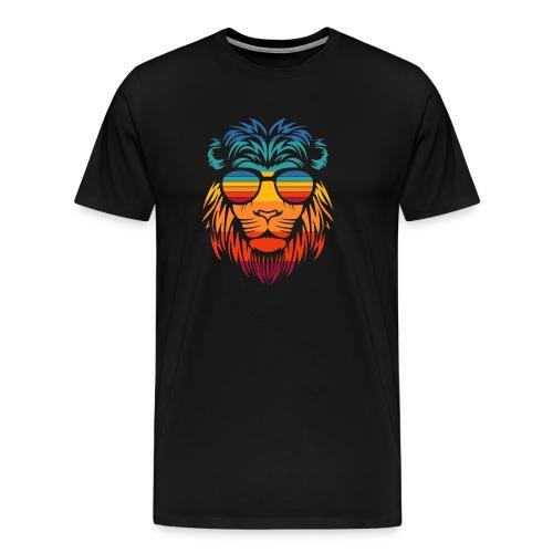Retro Lion - Mannen Premium T-shirt