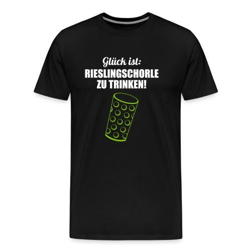 Glück trinken - Dubbeglas - Männer Premium T-Shirt