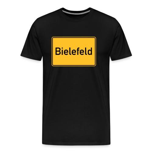 Ortsschild Bielefeld - Männer Premium T-Shirt