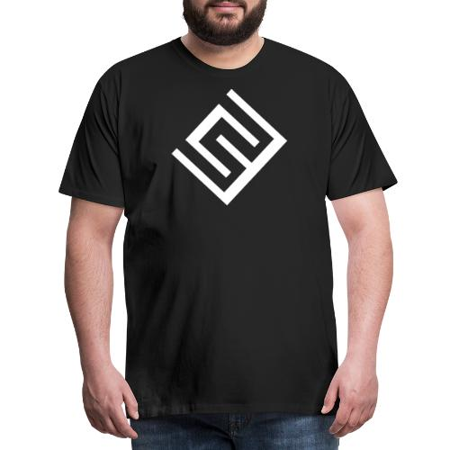 CW logo vit - Premium-T-shirt herr